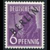 2x Schwarzaufdruck 6 Pf. - dickes Papier x, postfrisch **, geprüft Schlegel BPP