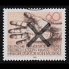 Luxemburg 460-463 Weltpostverein 75 Jahre UPU 1949, 4 Werte, Rand-Satz **