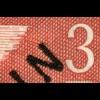 19VIII Schwarzaufdruck 3 M. mit MICHEL-PLF VIII Ast am Taubenflügel, Falzrest *