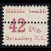 184y Heuss 15 Pf. Ecke oben links mit Druckerzeichen Lumogen L, ungefaltet, **