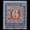 115I Briefmarken 30 Pf. PLF Kerbe an 0, roter ESSt München 30.9.49, BPP-Attest