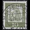 350y Bed. Deutsche y 10 Pf 1000er-Rolle, Einzelmarke + Nr. O