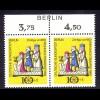352 Weihnachten 1969 - Paar mit BERLIN-Zudruck **
