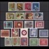 390-411 Bund-Jahrgang 1963 komplett, postfrisch **