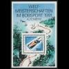 Block 23 Bob-WM Altenberg 1991, postfrisch