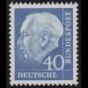 260xv Theodor Heuss 40 Pf **