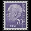 263xv Theodor Heuss 70 Pf **