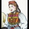 1761 Trachten Betzingen, 10er-Bogen mit PLF roter Fleck im Brustband, Feld 10 **