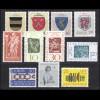 449-459 Liechtenstein-Jahrgang 1965 komplett, postfrisch