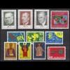495-505 Liechtenstein-Jahrgang 1968 komplett, postfrisch