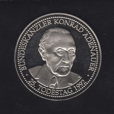 25. Todestag Bundeskanzler Konrad Adenauer 1992 & Bundesadler, Spiegelglanz