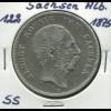 Sachsen König Albert - Reichsadler klein, 5 Mark von 1875, Silber 900, ss