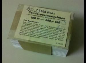 Block 23 Weltmeisterschaft im Bobsport, original 500er-Packung mit Banderole, **