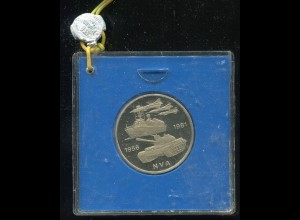 DDR Gedenkmünze nat. Volksarmee NVA, 1981, Spiegelglanz PP in verplombter Kapsel