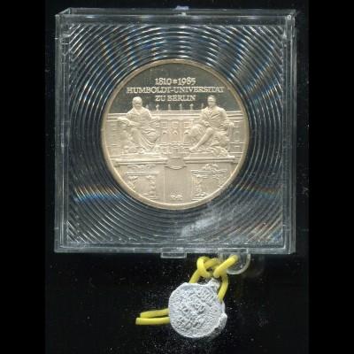 DDR Gedenkmünze Humboldt-Universität 1985, Spiegelglanz PP in verplombter Kapsel
