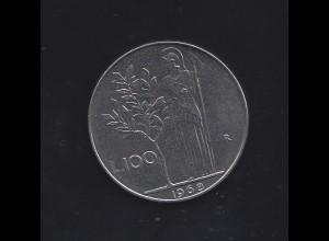 Italien: 100 Lire 1968, vorzüglich