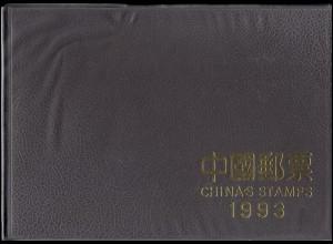 China Jahrbuch 1993 - brauner Einband, Auflage 12000, postfrisch ** / MNH