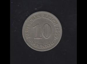 Deutsches Reich: 10 Pfennig Reichsadler 1900 E
