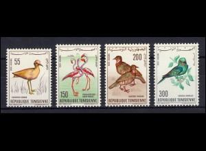 Tunesien: 655-658 Einheimische Vögel 1966, Satz ** postfrisch