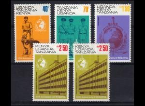 Ostafrikanische Gemeinschaft 259-262 Interpol 1973 - mit 262I+II, Satz **