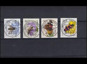 1202-1205 Bestäuberinsekten: Satz mit Voll-O der VS Weiden / Oberpfalz 1984