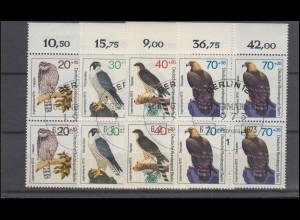 222-225 Wohlfahrt 1955 - kompletter Rand-Satz mit Passerkreuz, postfrisch **
