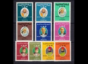 Libyen: 336ff Freiheitskämpfer, 10 Werte, Set ** postfrisch