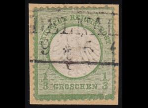 2b Brustschild 1/3 Groschen auf Briefstück, Altsignatur
