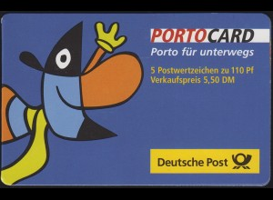 PORTOCARD Twipsy 1999 Weltausstellung Expo Hannover 2000 mit 5x2042 **
