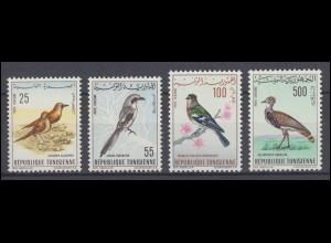 Tunesien: 639-642 Einheimische Vögel 1965, Satz ** postfrisch