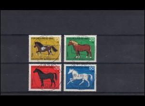 578-581 Jugend Pferderassen: Satz mit Vollstempel Viersen 13.2.1969