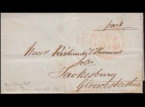 Großbritannien Paid-Brief One Penny Post Gray's Inn nach TEWKESBURY im Juli 1849