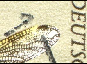 1546I Segellibelle 60 Pf mit PLF I: Aussparung am Flügel, Feld 27, Sonderstempel