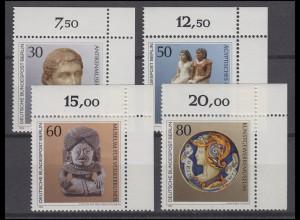 708-711 Kunstschätze in Berliner Museen 1984: Satz Ecken oben rechts **