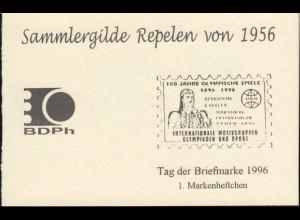 Privates Markenheftchen Sammlergilde Repelen: T.d.B mit 1862 **