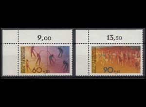 645-646 Sport Berlin Frauen-Gymnastik Volkslauf 1981: Satz Ecken oben links **