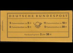 2b Heuss Pelikanol - kleine, unauffällige Deckelmängel, Heftchen-Blätter **