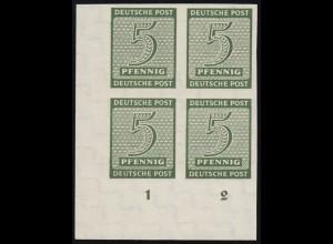 114PV Briefmarke 20 Pf. mit Passerverschiebung blau nach rechts, postfrisch **