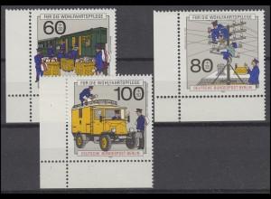 876-878 Wofa Post und Telekommunikation 1990: Satz Ecken unten links **