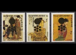 Tschad: Olympia / Olympic Winter Games Sapporo 1972, 3 Werte, Satz **