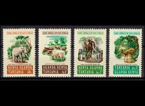 Ostafrikanische Gemeinschaft 299-302 Tiere - Elefanten Büffel Antilope, Satz **