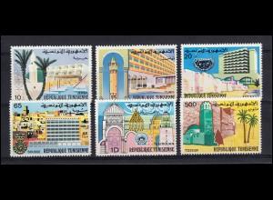 Tunesien: 865-870 Stadtansichten - Altes und Neues Tunesien, Satz ** postfrisch