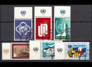 9-14 UNO Genf Jahrgang 1970 komplett - mit TAB oben bzw. links, alle mit ESSt