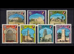 Libyen: 497-503 Bauwerke Moscheen, Satz ** postfrisch
