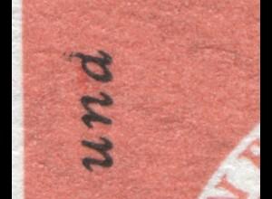 255I Aschaffenburg Rand-3er-Streifen beginnender PLF I una statt und, Feld 29 **
