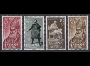 Rio Muni / Spanien: Tag der Briefmarke 1960, 4 Werte, Satz **