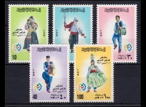 Libyen: 508-512 Messe Tripolis - Trachten Musiker Musikinstrumente, Satz **