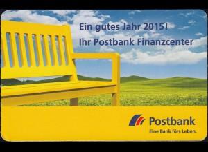 PortoCard Individuell Postbank 2015 mit 2 selbstklebenden Marken zu je 2 Cent **