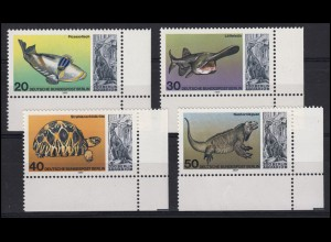 552-555 Aquarium Berlin 1977: Satz Ecken unten rechts **