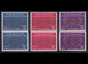 Libyen: 175+177A+B Internationale Zusammenarbeit, Satz A+B kompl. ** postfrisch